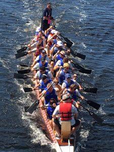 Front Burner Brands Team Participating in Dragon Boating