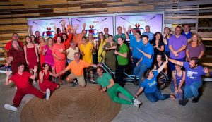 Front Burner Brands Team dressed in rainbow colors to celebrate Pride month.